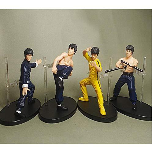 EEKUY Superstar Bruce Lee Ornamente, Geschenke für Kinder der Bruce Lee Puppe Spielzeug Modell (4PCS)