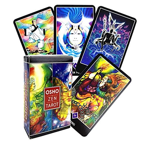 GWQDJ Osho Zen Tarot, Tarjetas De DivinaciÓn De Escruparios Tarjetas De Juego DivenizaciÓn del Juego De Prondicio De Prendaciones De Tarot para El Juego De InteracciÓn