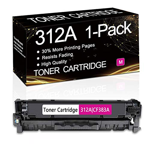 1-Pack (Magenta) 312A | CF383A Compatible Remanufactured Toner Cartridge Replacement for HP Laserjet Pro MFP M476dw MFP M476dn MFP M476nw Printer,Sold by SinaToner.