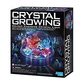 4M Crystal Growing Color Changing LED Light Kids Science Kit – Easy DIY STEM Toys Lab Experiment Specimens, A Great Educational Gift for Kids & Teens, Boys & Girls