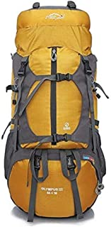 SP-Xhz Outdoor Travel Backpack Mountaineering Camping Backpack Men and Women Large Capacity Backpack, Suitable for Cycling, Mountaineering, Camping (Color : Yellow)