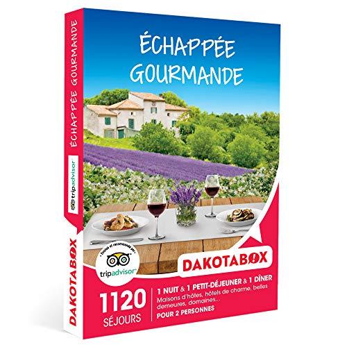 DAKOTABOX - Échappée gourmande - Coffret Cadeau Séjour Gourmand - 1 nuit avec petit-déjeuner et 1 dîner pour 2 personnes