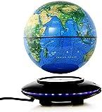 SuRose Globo, Globo de sobremesa Explore The World Globo Flotante Globo de levitación magnética antigravedad giratoria de 8 Pulgadas con iluminación LED Mapa del Mundo Escritorio Oficina Decoración