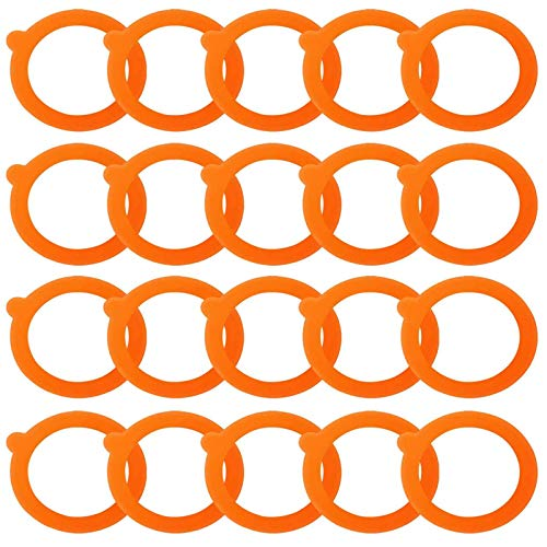 20 Pieces Rubber Jar Seals Rings, Replacement Silicone Seals, Airtight Silicone Gasket Sealing Rings, for Glass Jars, Preserve Food, Isolate Gas