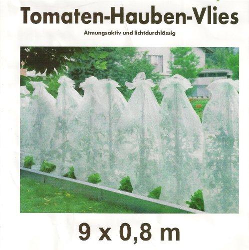 9 Tomaten 9 m x 80 cm Hauben Tomatenvlies Vlies Haube Tomatenhaube Tomatenzelt Gewächshaus