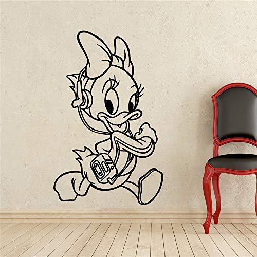Peel en Stick Verwijderbare Muurstickers Donald Duck's Niece Kostuum Kids Naam Baby voor Kinderen Kamers 15.5x23.2 inch