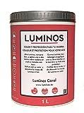 Luminos LUM1110 -CORAL- Impregnante/Finitura Protettiva per Legno. Colore Rosso Corallo. 1 Liter