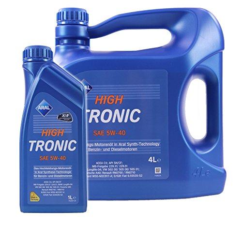 1 L + 4 L = 5 Liter ARAL HighTronic 5W-40 Motoröl