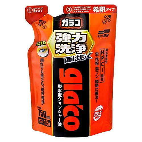 ソフト99(SOFT99) ガラスコーティング剤 ガラコウォッシャー強力洗浄 750ml 04952