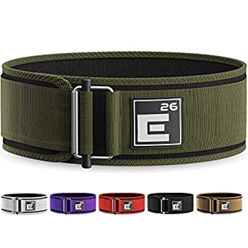 Element 26 Self-Locking Weight Lifting Belt | Premium Weightlifting Belt for Serious Functional Fitness Weight Lifting and Olympic Lifting Athletes| Lifting Belt for Men and Women  Small Green