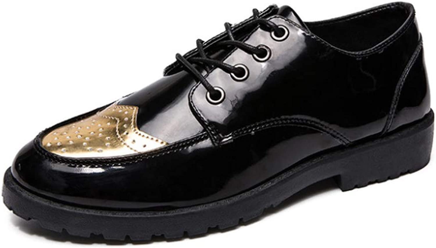 Spring Men's shoes Glossy Casual shoes Round Head Small shoes Hair Stylist Trend Flat shoes Student Youth shoes