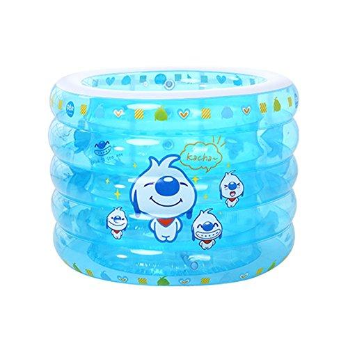 TIDLT Gonflable Piscine pour Enfant Piscine Piscine Ronde Cinq Anneaux Protection de l'air baignoires