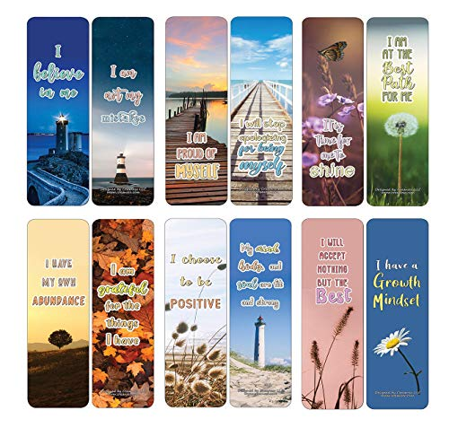 Creanoso Positive Affirmations Cards Series 5 (12-Pack) - Stocking Stuffers Premium Quality Gift Ideas for Children, Teens, & Adults - Corporate Giveaways & Party Favors