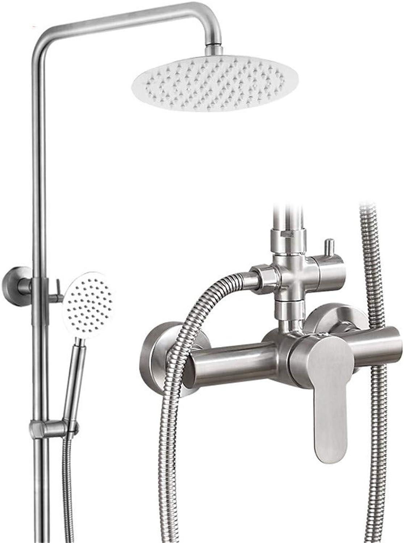 STAZSX-Faucet Duschkopf aus Edelstahl 304, Duschkopf, Duschset