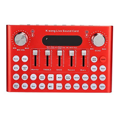 Mini scheda mixer audio, scheda audio cambia voce con effetti sonori multipli, mixer audio per registrazione musicale, trasmissione su tablet computer portatile