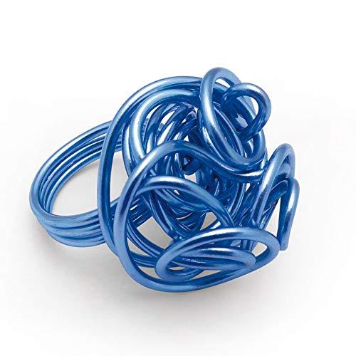 Fil aluminium Ø 1,5 mm - 5 mètres - Bleu - Graines créatives