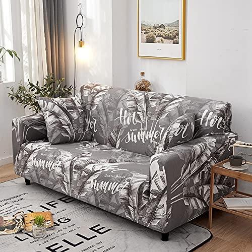 PPOS Fundas de sofá Florales Fundas de sofá para Sala de Estar Funda elástica elástica Fundas de sofá de Esquina seccionales A7 Loveseat 145-185cm-1pc