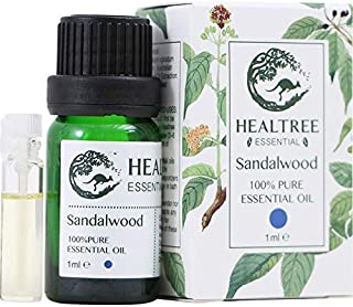 HEALTREE Sandalwood Pure Essential Oil 1ml, Australian Owned and Made, Natural Aromatherapy, Single Ingredient Calming Oil