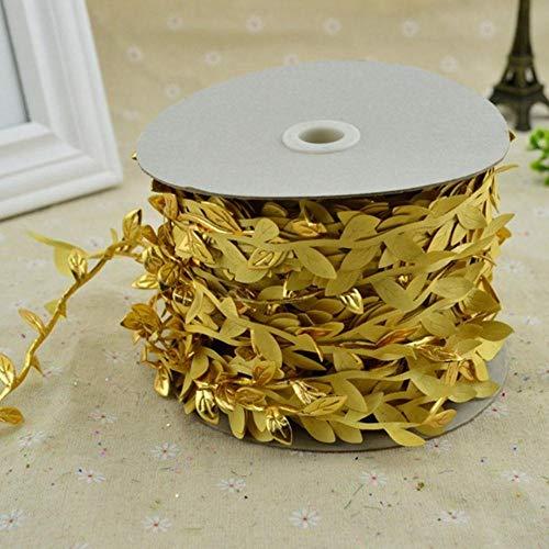 200cm / lot goedkope kunstbloemen wijnstok kerst voor thuis bruiloft auto decor accessoires nep planten blad wijnstok diy krans geschenken, gouden