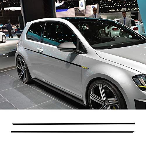 FSXTLLL 2 STÜCKE Autotür Seitenschweller Sport Aufkleber, Für Volkswagen VW Golf 7 5 4 3 6 2 1 MK7 MK5 MK2 MK6 MK4 MK1 MK3 GTI