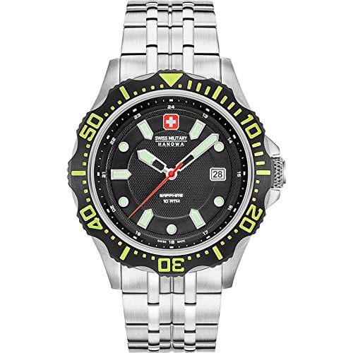 Swiss Military Hanowa Reloj Analógico para Hombre de Cuarzo con Correa en Acero Inoxidable 06-5306.04.007.06
