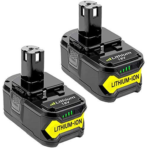2 X Dosctt Batterie Remplacement pour Ryobi RB18L50 18V 5,0Ah ONE+ RB18L50 RB18L40 RB18L25 RB18L15 RB18L13 P108 P107 P122 P104 P105 P102 P103