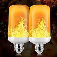 [4 Modalità di illuminazione regolabili] - Modalità di simulazione della fiamma, modalità di respirazione, modalità di illuminazione normale e modalità invertita. Dopo aver installato la lampada, potrebbe essere necessario cambiarla quando si accende...