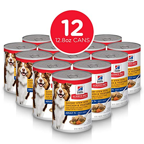 Hill's Science Diet Wet Dog Food, Adult 7+ for Senior Dogs, 13 oz Cans, 12 Pack