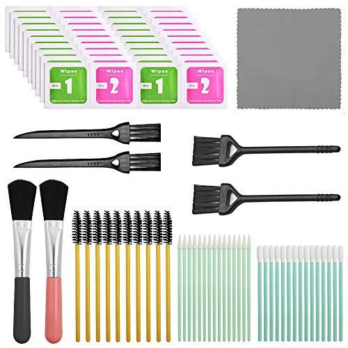 Kit de limpieza profesional de 57 piezas, juego de herramientas de limpieza YuCool para cámaras/teléfonos celulares/auriculares/teclados