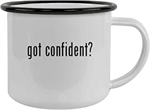 got confident? - Sturdy 12oz Stainless Steel Camping Mug, Black