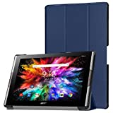 Funda de Lobwerk para la tableta Acer Iconia Tab 10A3-A50de 10,1pulgadas, con función Sleep/Wake, función atril y lápiz capacitivo azul azul