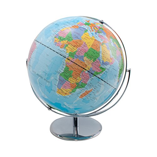 Advantus 12 Inch Desktop World Globe with Blue Oceans (30502)