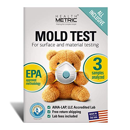 Mold Test Kit for Home - All-Inclusive DIY Detection Kit for Visual Mold and Mildew incl. Black Mold Spores | EPA Approved & AIHA Accredited Lab Analysis | Shipping & Lab Fees Included for 3 Samples