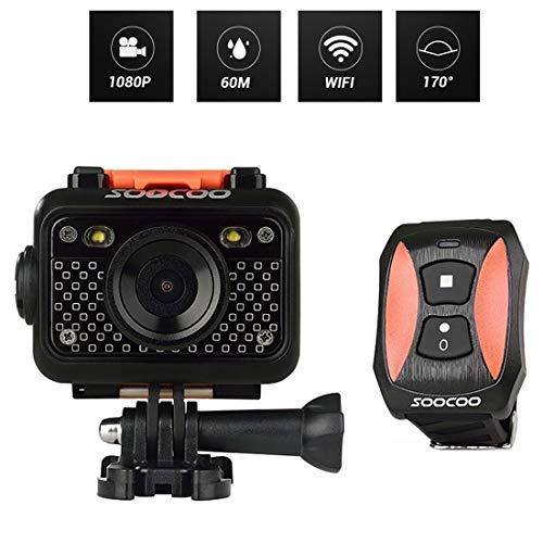 Fengyuechen Accesorios de cámara, HD 1080P Pantalla LCD de 1,5 Pulgadas Wi-Fi Deportes cámara, 170...