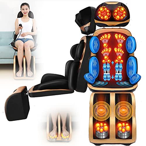 lxiluv Full Body Electric Massage Mat, Constant Temperature Hot Compress Massage, Full Body Multifunctional Massage Chair Cushion Shoulder and Neck Massager Leg, Sole, Waist and Back