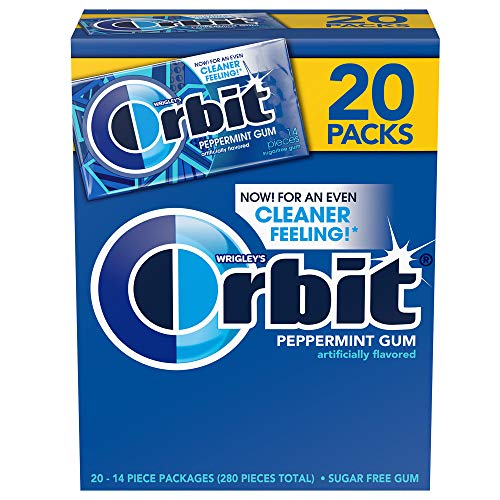Orbit Sugarfree Gum, Bulk 20 packs, Peppermint