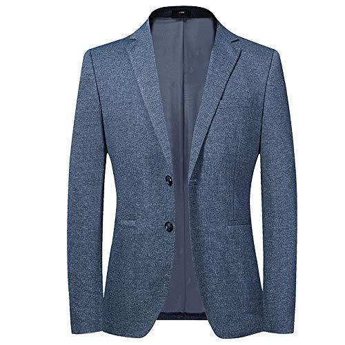 WYX Herren Business Casual Blazer Einreiher Slim Fit Anzugjacke Wedding Smoking-Chic Coats,Blau,190/XXXL