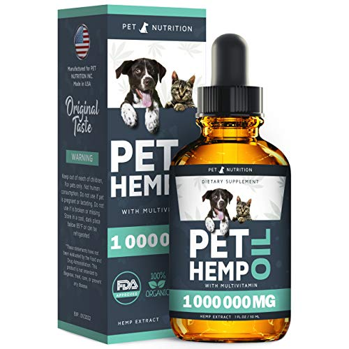 Hеmp Oil Dogs Cats - Helps Pets with Anxiety, Pain, Stress, Sleep, Arthritis,...