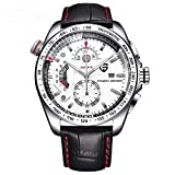 Cronógrafo Sport Pagani Diseño Hombres Relojes Impermeable Cuarzo Reloj Militar Cuero