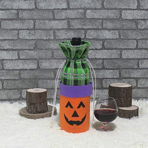 Xin DU QU Home Decor CX189009 Halloween-Weinflaschenabdeckung, Party-Weinflaschen-Dekoration, für Weinflaschen kürbis