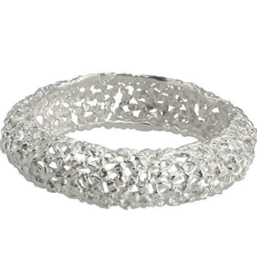 Armreif aus Silber Nuggets hochwertige Goldschmiedearbeit aus Deutschland (Sterling Silber 925) handgefertigter Damen Arm Reif