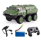 Teakpeak 1:16 6WD 2.4G Vehículo blindado RC Coche Coche teledirigido de alta velocidad Auto control remoto, carga RC Car