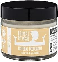 Primal Pit Paste All-Natural Deodorant - Aluminum & Paraben Free - Patchouli Deodorant