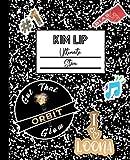 Kim Lip Ultimate Stan: LOONA Mock Sticker Filled Kpop Bias Merch Notebook 7.5 x 9.25' College Ruled Composition School Style Paperback Journal Book for Orbit Fan