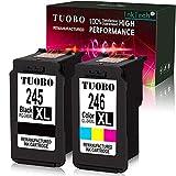 Tuobo Compatible with PG-245XL CL-246XL PG245 CL246 XL Ink Cartridge Combo, Work with PIXMA MX492 MG2520 MG2920 MG2420 MG2522 MG2922 IP2820 MX490 MG2525 MG3020 MG2555 MG2924 Printer (1 Set)