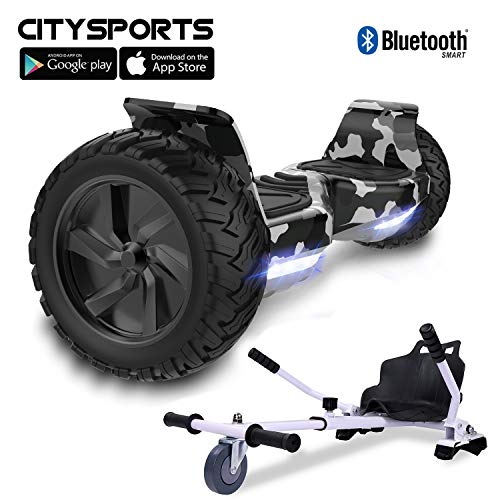 CITYSPORTS Balance Board Tout Terrain 8.5', Self-Balancing Scooter Hummer SUV, Bluetooth et APP, 700W (Hover-2)
