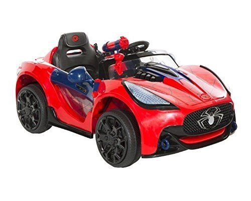 Super Electric Kids Ride On Car Power Wheels Spiderman Toys Play Boy Driving MP3 _#GER4T134D...