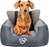 GoFirst Dog Car Seat for Small Dogs or Cats, Pet Booster Seat Travel