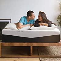 Grandre 10 Inch Mattress King Size Medium Firm, Gel Memory Foam and Innerspring Hybrid Mattress King in a Box, Bamboo...
