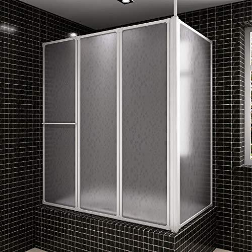 Bad en douchescherm L-vorm 70 x 120 x 140 4 panelen